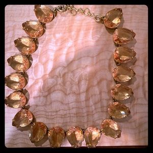 J.Crew,peach teardrop statement necklace